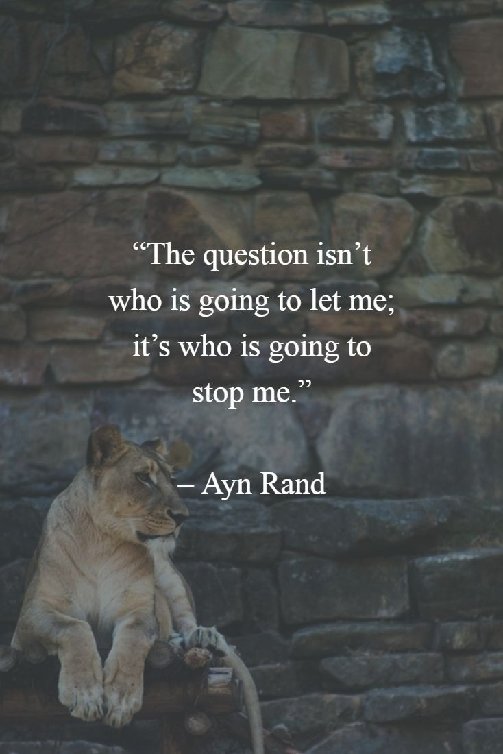 "Discover how to be more confident in yourself - read the article. ""The question isn't who is going to let me, it's who is going to stop me."" - Ayn Rand http://boldselfimprovement.com/self-improvement/271/"