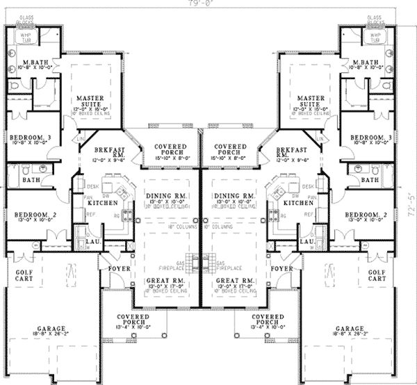 Haldimann Multi-Family Home Plan 055D-0381 | House Plans and More