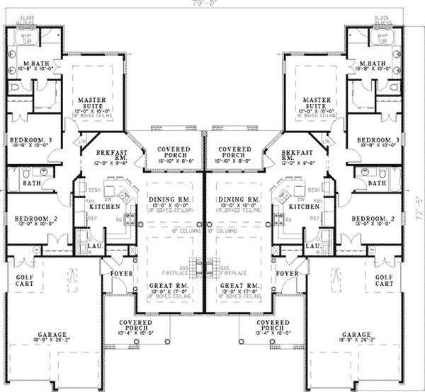 Multi Family House Plans multifamily house plans rio papaloapan homeexteriorinteriorcom Haldimann Classic Duplex Duplex House Planshouse