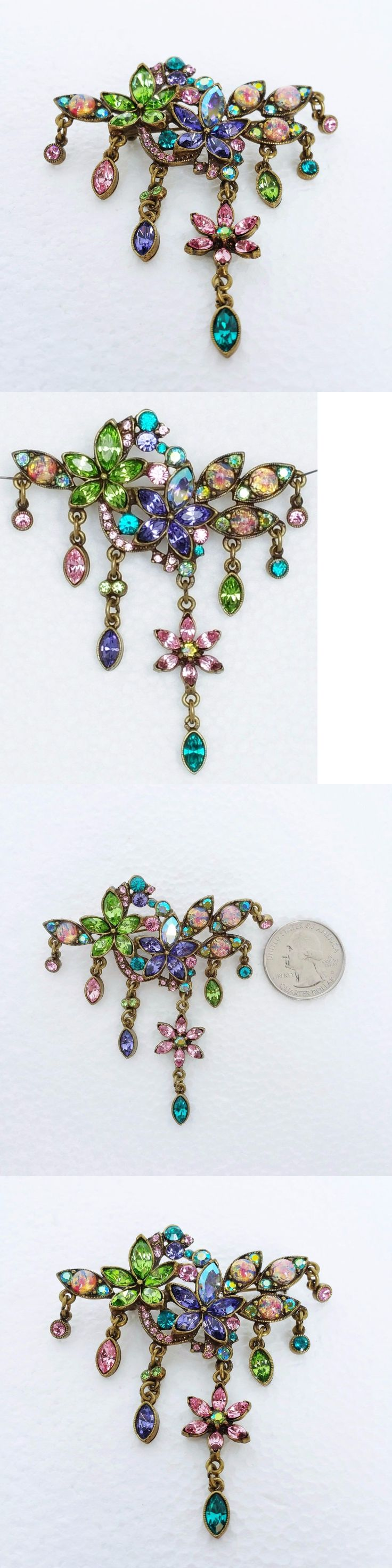 Pins and Brooches 50677: New Sweet Romance Womens Brooch Pin Large Simulated Opal Rhinestones -> BUY IT NOW ONLY: $52.91 on eBay!
