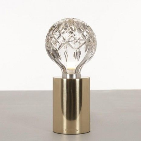 Lee Broom Clear Crystal Bulb Tafellamp goud/messing