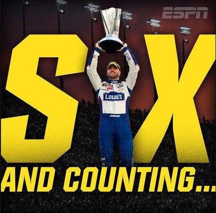 Man, Myth, Legend. Jimmie Johnson is a NASCAR Sprint Cup Champion once again