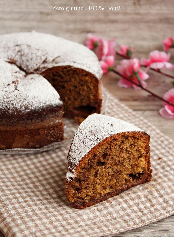Torta al caffè con crema al cacao , ricetta senza glutine ideale da servire per colazione o fine pasto. Una torta soffice che vi conquisterà !