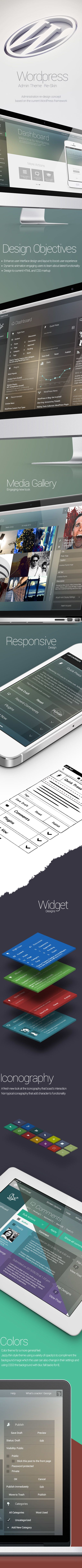 WordPress Admin Theme Redesign by George Kordas, via Behance