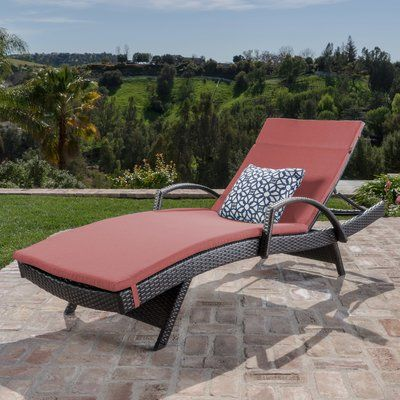 Lenahan Traditional Chaise Lounge with Cushion Color: Red - http://delanico.com/chaise-lounges/lenahan-traditional-chaise-lounge-with-cushion-color-red-734605798/