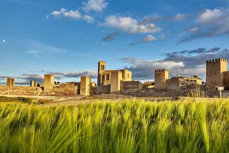 Una fabulosa fortificación medieval corona el cerro sobre el que se asienta Artajona, un pequeño pueblo situado a 30 kilómetros de Pamplona que invita a cerrar los ojos y encontrarse con un pasado habitado por reyes, nobles, obispos y papas. #Navarra