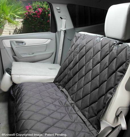 Split Rear Seat Cover For Dogs -Hammock Option Black XL | 4Knines