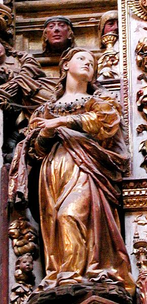 Ecclesia. Synagoga. Wood, polychrome. Chapel of the High Constable, Burgos Cathedral, Spain