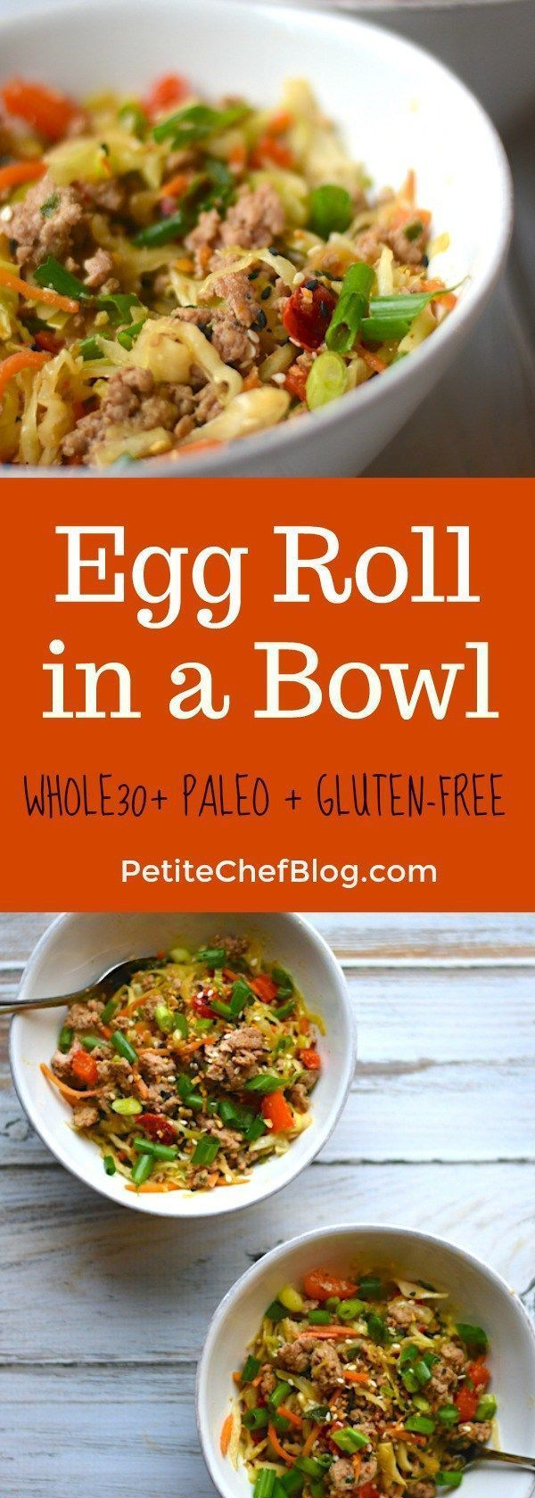 Egg Roll in a Bowl - Whole30 and Paleo Friendly recipe | So easy and delicious! | PETITECHEFBLOG.COM