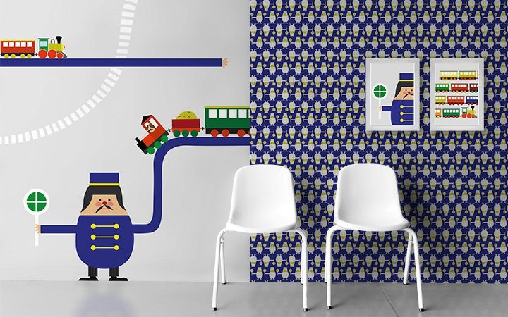 Tapete Trains - Designer Tapeten DecorPlay