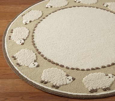 Love this for a nursery!  Sheep Rug Swatch #WilliamsSonoma