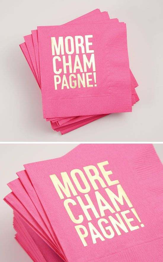 More Champagne Party Napkins (Hot Pink/Gold)