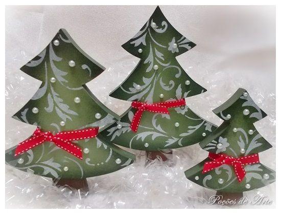 Lojinha Poções de Arte: Árvore - Pinheiros de Natal.