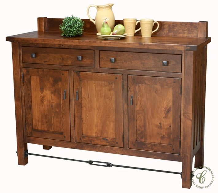 Our Dakota Dunes Rustic Sideboard is Amish handmade in the solid wood, hand rubbed stain, and hardware you select using our Create Your Piece menu.