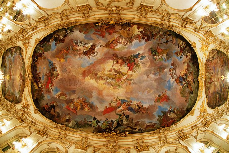 Ceiling frescos by Gregorio Guglielmi - http://www.schoenbrunn.at/en/things-to-know/palace/tour-of-the-palace/great-gallery.html