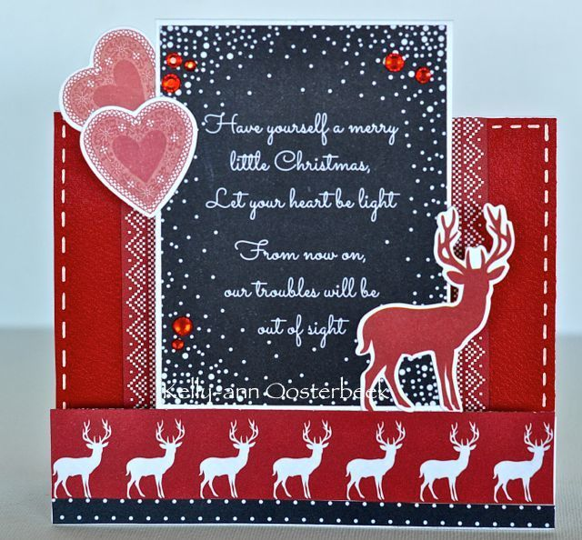 A step card by Kelly-ann Oosterbeek made using the North Pole collection from Kaisercraft.