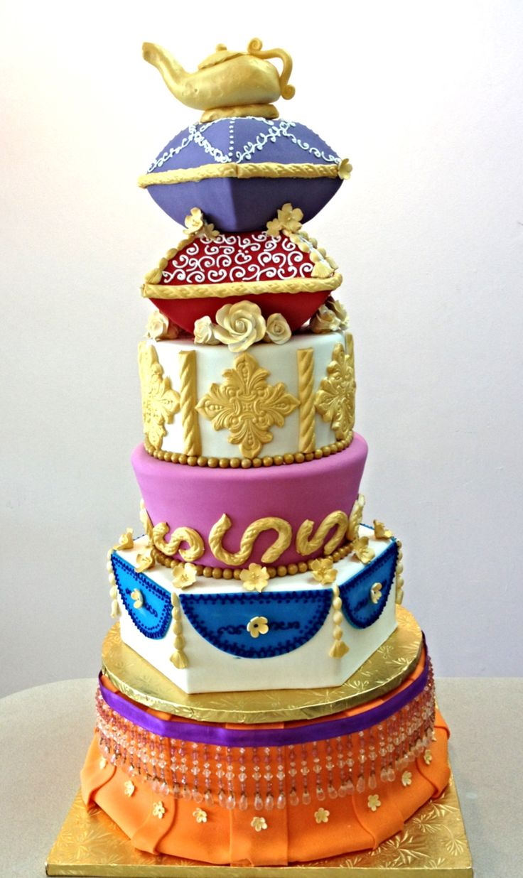 227 best bollywood arabian nights party images on pinterest for Arabian cake decoration