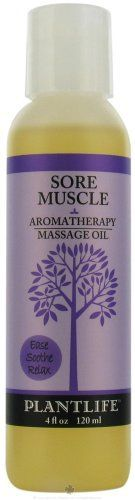 Sore Muscle Aromatherapy Massage Oil - 4 oz by Plantlife. $11.15. Since Ancient Times, Aromatherapy Has Been Used To Energize, Pacify And Detoxify Using Essential Oils (The Essence) Of Plants And Herbs That Are Extracted And Then Used Therapeutically. When Used With Massage The Remarkable Benefits Of These Oils Penetrate Deeply Into The Skin And Are Circulated Throughout The Body/Mind System. Inhaling The Vapors Has An Effect On The Mind And Emotions.