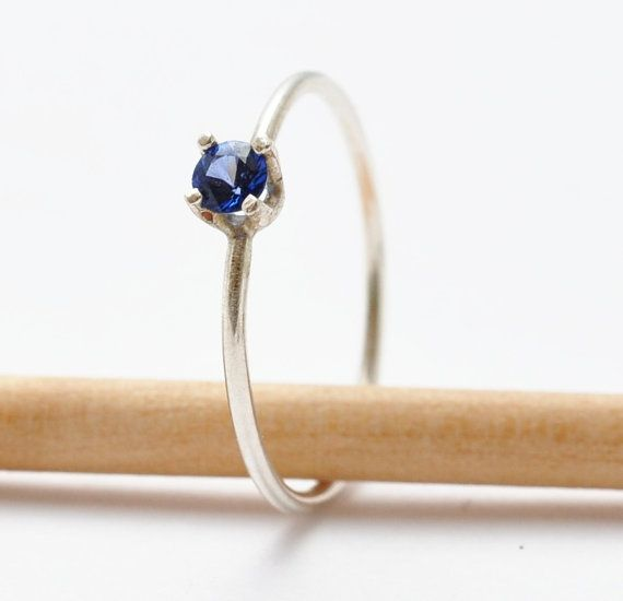 Sapphire Ring Gemstone  Simple Sapphire Ring by BlueRidgeNotions, $62.00