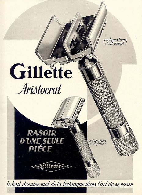 #want I will add one of these to my collection one day. gillette >> amazing razor illustration!