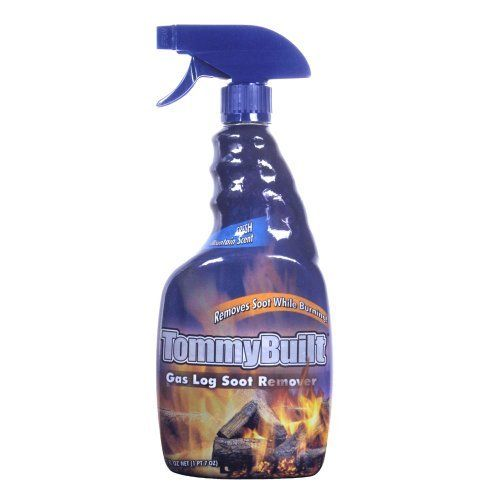 Tommybuilt Gas Log Soot Remover (23 oz) by Bryson. $10.99. TommyBuilt also has a fresh mountain scent. Removes soot while burning. Tommybuilt Gas Log Soot Remover (23 oz)  Removes soot while burning.  TommyBuilt, a name synonymous with award winning gas log designs, collaborated with Bryson Industries (The people who bring you CitruSafe and CirtuShine products), to develop TommyBuilt Gas Log Soot Remover.   There is no need to remove dirty logs from the fireplace and attempt ...