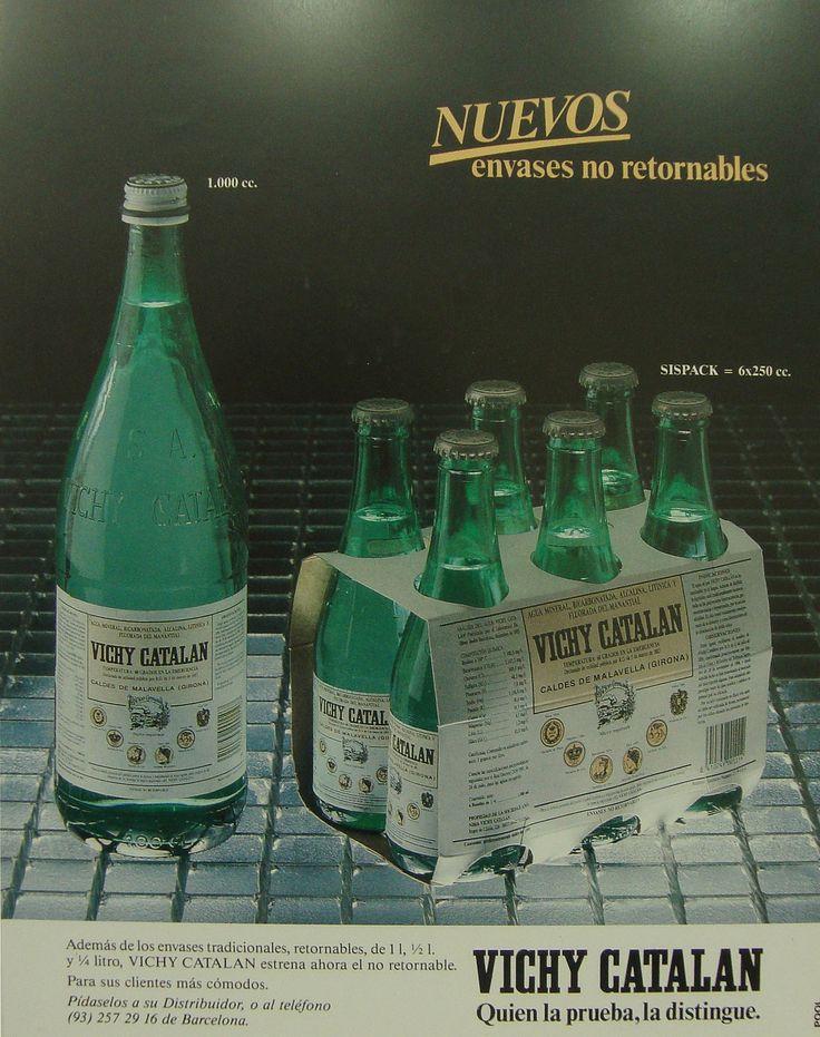 https://flic.kr/p/EGZ2gq | 1986 Anunci Vichy Catalán Nuevos envases retornables - Revista Aral