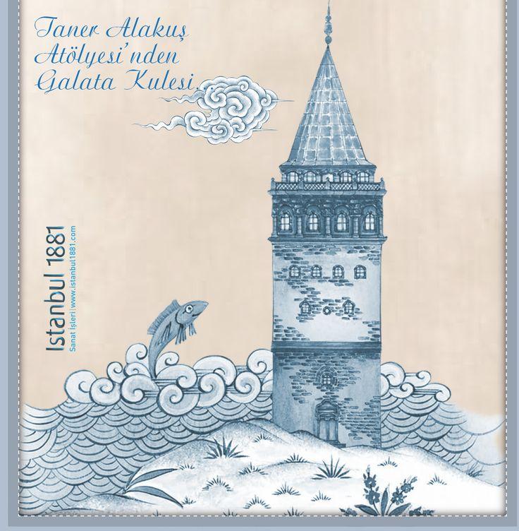Taner Alakuş minyatğrlerinden Galata Kulesi ve dekorasyon ürünleri  #taneralakus; #istanbul, #istanbul1881, #istanbulhediyesi, #galatakulesi, #galata