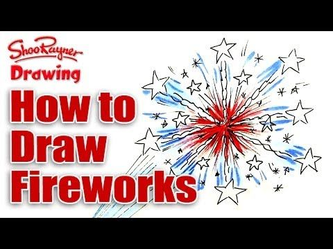 How To Draw Fireworks - Easy Drawing Lesson for kids.EASY! - YouTube