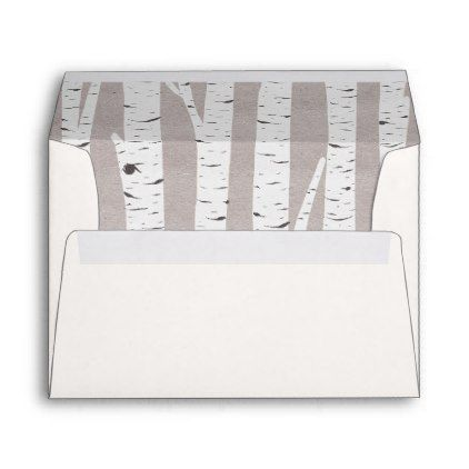 #Birch Tree Rustic Nature Custom Wedding Invitation Envelope - #Wedding #Printed & #Mailing #Envelopes #weddinginvitations #wedding #invitations #party #card #cards #invitation