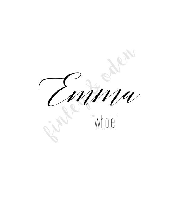 Emma whole Custom Name Meaning 8x10 Instant by ...
