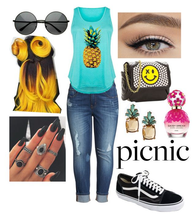 """""""Picnic attire"""" by plus-size-royalty ❤ liked on Polyvore featuring Melissa McCarthy Seven7, J.Crew, Thomas Blakk, Marc Jacobs, Banana Republic and plus size clothing"""