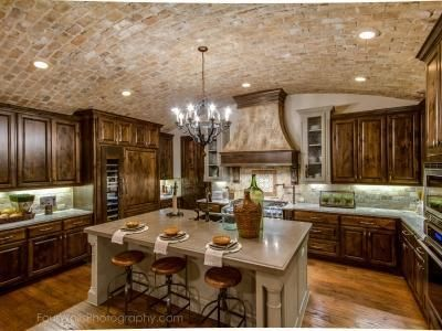 Austin, TX   Every Detail Was Thoughtfully Considered In This Amazing  Luxury Kitchen Including The Exposed Brick Arched Ceiling.