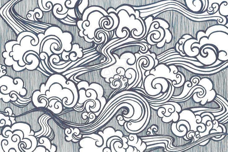 Oriental Cloud Drawing | Oriental Clouds by gkelleh on deviantART