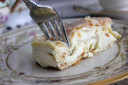 Vanilla Slice recipe. An amazing Australian dessert pastry with thick vanilla custard and passionfruit icing