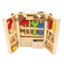 Bebek Oyuncakları Çocuk Ahşap Çok Amaçlı Takım Seti Bakım Kutusu Ahşap Oyuncak Bebek Fındık Kombinasyon Chirstmas / Doğum Günü Hediyesi (Çin (Anakara))
