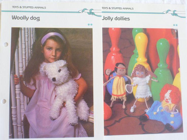 Quick n Easy Crochet-  Woolly Dog/Jolly Dollies patterns.  crochet dog, crochet doll B581 by CarolsCreations77 on Etsy