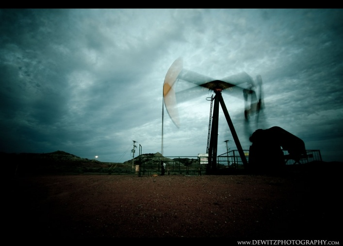 Bakken Oil Well Jackpump Chaos   http://www.dewitzphotography.com/personal-photography-projects/bakken-oil-well-pumpjack-chaos/