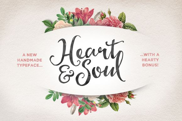 Check out Heart & Soul Typeface by Nicky Laatz on Creative Market #font #typography
