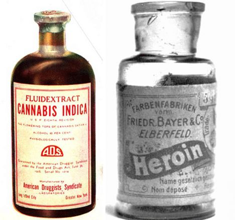 """Bayer's branded product """"Heroin"""" which was touted as a non addictive substitute for morphine… until it was discovered that it actually metabolized into morphine, only on a much more powerful scale."""
