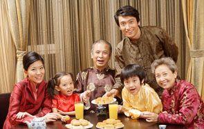 family gathering on Mid-Autumn Festival