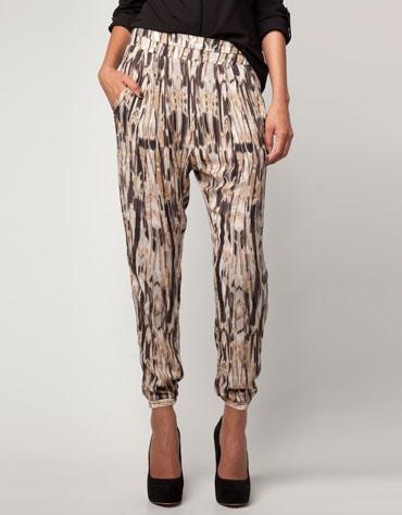 Bershka print trousers