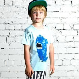 Minti Sharkman Rad Tee - Light Blue Preorders now open at www.ragamuffins.co.nz