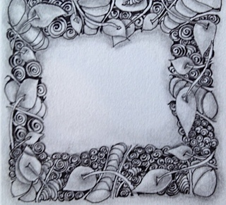 """A Zentangle we did in """"Class together at Zentangle #9...."""