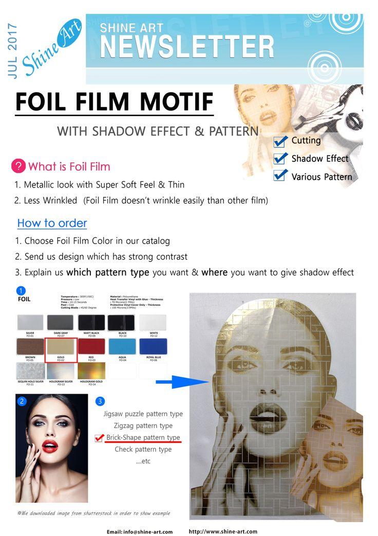 GET UNIQUE FILM MOTIF! YOU CAN GIVE SHADOW EFFECT & VARIOUS PATTERN ON FOIL FILM.  info@shine-art.com