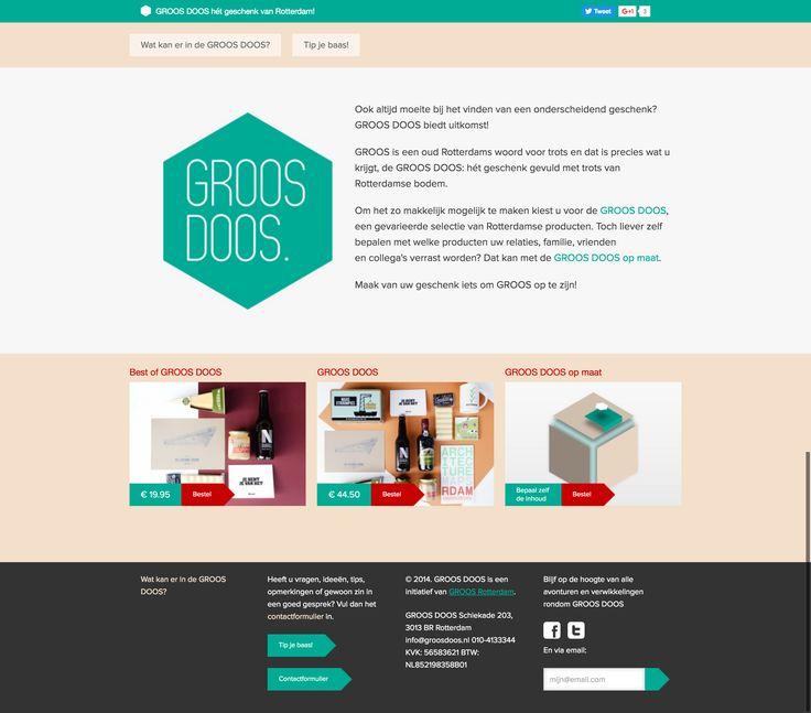 Logo en website design voor www.groosdoos.nl.
