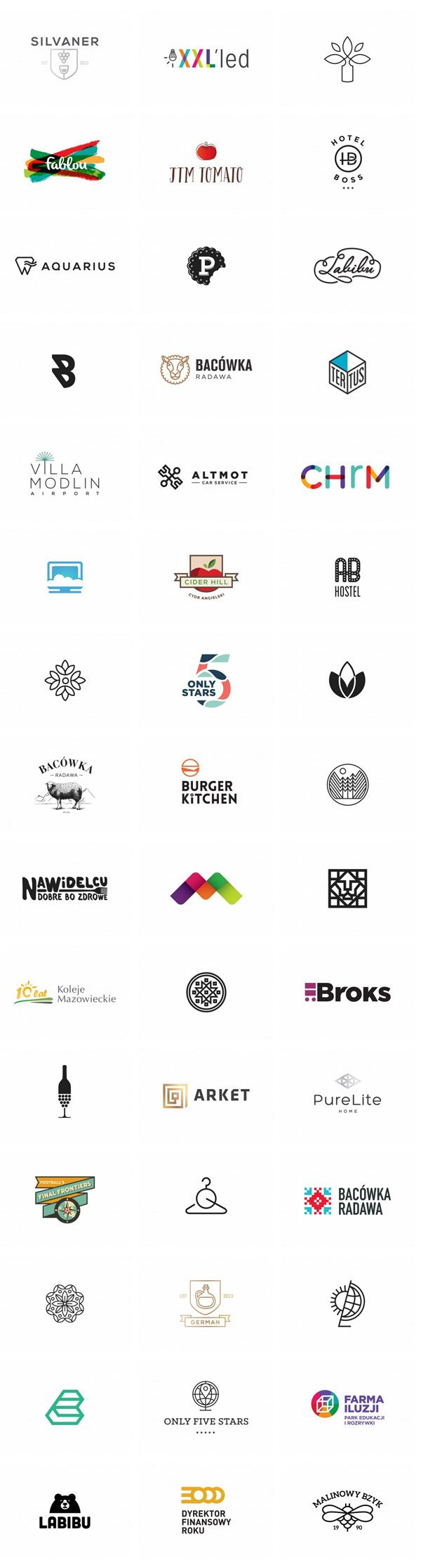 A big collection of well designed logos by Klaudia Szymańska. Klaudia Szymańska was born in 1987. She graduated at Polish - Japanese Institue of Informatio