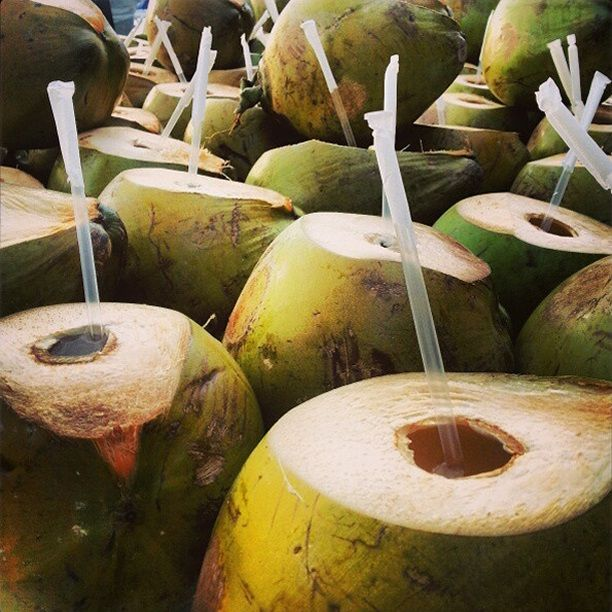 Coconut Water is my go to thirst quencher. No fat, low in sugar and carbs, rich in nutrients and electrolytes.  Perfect on a hot sunny day.