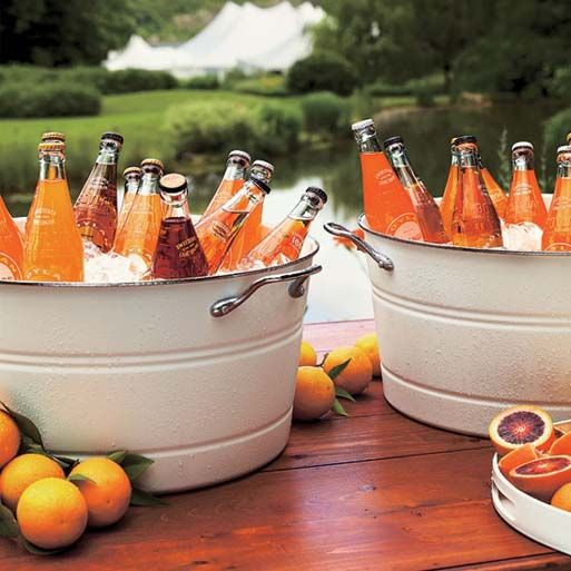 fun wedding ideas | Wedding Ideas, Fun Wedding Reception Food Ideas: fun wedding reception ... Definitely for the beer in tin buckets