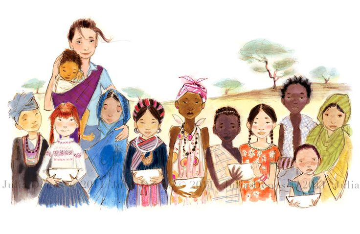 A wonderful Julia Denos illustration from the children's book Just Being Audrey
