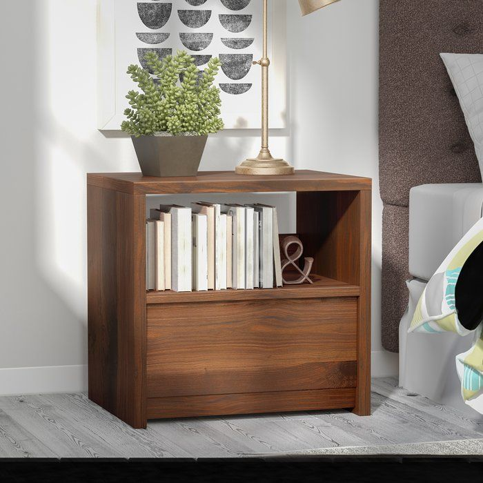 Drawing Inspiration From Danish Modern Design, This Chic One Drawer  Nightstand Lends Minimalist Appeal To Your Bedroom Ensemble. Made From  Manufactured Wood ...